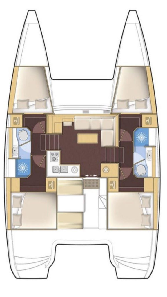 Lagoon 39 interior layout